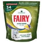 Fairy All In One Dishwasher Tablets Lemon 34 Pack