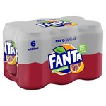Fanta Zero Blood Orange 6 X 330ml Cans