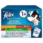 Felix As Good As It Looks Doubly Delicious Countryside Selection with Vegetables in Jelly 12 x 100g