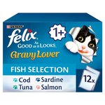 Felix As Good As It Looks Gravy Lover Fish Selection 12 x 100g