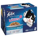 Felix As Good As It Looks Kitten Fish Selection In Jelly 0 - 1 Years 12 x 100g