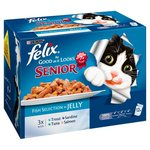 Felix As Good As It Looks Senior Fish Selection In Jelly 12 x 100g