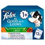 Felix As Good As It Looks Veg Selection in Jelly 12 x 100g