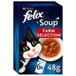 Felix Cat Soup Farm Selection 6 x 48g