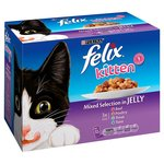 Felix Kitten Mixed Selection Pouch in Jelly 12 x 100g