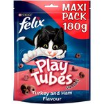 Felix Play Tubes Cat Treats Turkey and Ham 180g