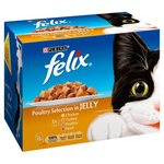 Felix Pouch Poultry in Jelly Multipack 12 x 100g