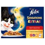 Felix Sensations Extras Cat Food Meaty 12 x 100g