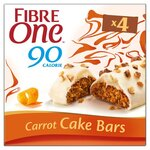 Fibre One Cake Bars Carrot Cake 4 Pack