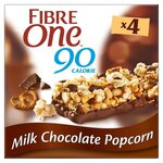 Fibre One Milk Chocolate Popcorn Bars 4 Pack