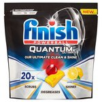 Finish Quantum Ultimate Lemon Dishwasher Tablets x 20