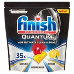Finish Quantum Ultimate Lemon Dishwasher Tablets x 35