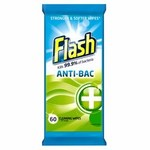 Flash Antibacterial Wipes 60 Pack