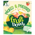 Fruit Bowl Picked and Pressed Apple and Pear Bar 4 x 19g