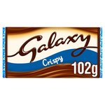 Galaxy Crispy Milk Chocolate 102g