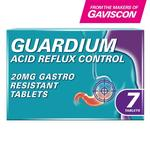 Gaviscon Guardium Acid Reflux Control 20mg Tablets 7 per pack