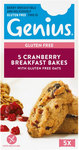 Genius Gluten Free Breakfast Bakes Cranberry 5 Pack