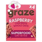 Graze Raspberry Flapjack with Super Chia 4 x 30g