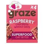 Graze Raspberry Flapjack with Super Chia 4 x 30g