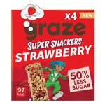 Graze Super Snackers Strawberry 4 x 23g