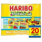 Haribo Fruitilicious Reduced Sugar Mini Bags 20 per pack