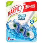 Harpic Active Fresh 6 Rim Block Lime Fresh 39g