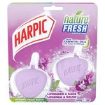 Harpic Nature Fresh Twin Rim Block Lavender and Sage 2 x 40g
