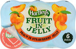 Hartleys Fruit in Jelly Peach in Strawberry Jelly 6 x 120g
