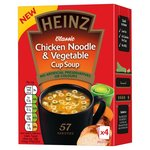 Heinz Chicken Noodle and Vegetable Cup Soup 4 Sachets