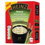 Heinz Cream of Asparagus with Croutons Cup Soup 4 Sachets