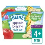 Heinz Dessert Pots 4 Month Apple and Banana Fruit Pots 4 x 100g