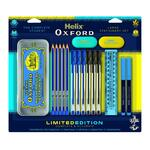 Helix Oxford Clash Bulk Pack Stationery Set Blue