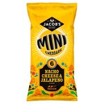 Jacobs Mini Cheddars Nacho Cheese and Jalapeno 6 Pack