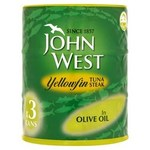 John West Yellowfin Tuna Steak in Olive Oil 3 x 160g