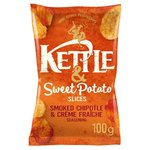 Kettle And Sweet Potato Slices Smoked Chipotle And Creme Fraiche 100G