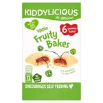 Kiddylicious Apple Fruity Bakes 6 x 22g
