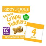 Kiddylicious Banana Crispie Tiddlers 4 x 12g