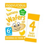 Kiddylicious Banana Wafers 4 x 4g