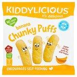 Kiddylicious Chunky Puffs Banana 12g