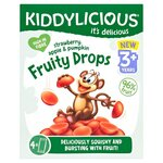 Kiddylicious Fruity Drops Strawberry Apple and Pumpkin 4 x 16g