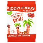 Kiddylicious Mini Strawberry Coconut Rolls 8 Pack