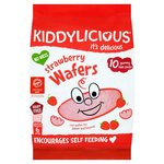 Kiddylicious Strawberry Wafers 10 x 4g