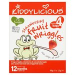 Kiddylicious Strawberry Wriggles Multipack 4 x 12g 12 months