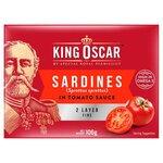 King Oscar Brisling Sardines in Tomato Sauce 106g