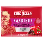 King Oscar Brisling Sardines Mediterranean Style 106g