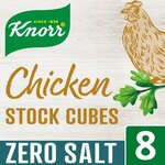 Knorr 8 Chicken Stock Cubes Zero Salt 72g