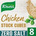 Knorr 8 Chicken Stock Cubes Zero Salt 72g