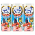 Koko Dairy Free Strawberry And Calcium Long Life Milk Alternative UHT 3 x 250ml
