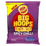 KP Hula Hoops Big Hoops Spicy Chilli Flavour Potato Rings 12 x 87.4g
