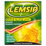 Lemsip Cold and Flu Lemon 5 Sachets
